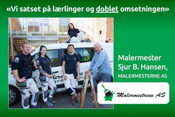 Satset på lærlinger - doblet omsetningen|Sjur B. Hansen i Malermesterne AS