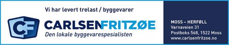 Trelast og byggevarer til prosjektet var det den lokale byggevarespesialisten i Moss, Carlsen Fritzø