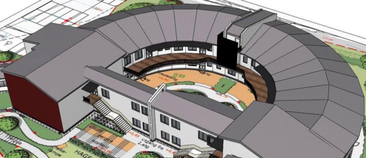Østsiden sykehjem | Illustrasjon: Plus Arkitektur/Fredrikstad kommune